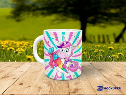 Taza unicornio con foto