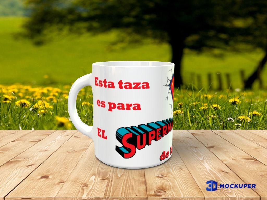 Taza personalizada con foto con Diseño Superman 2