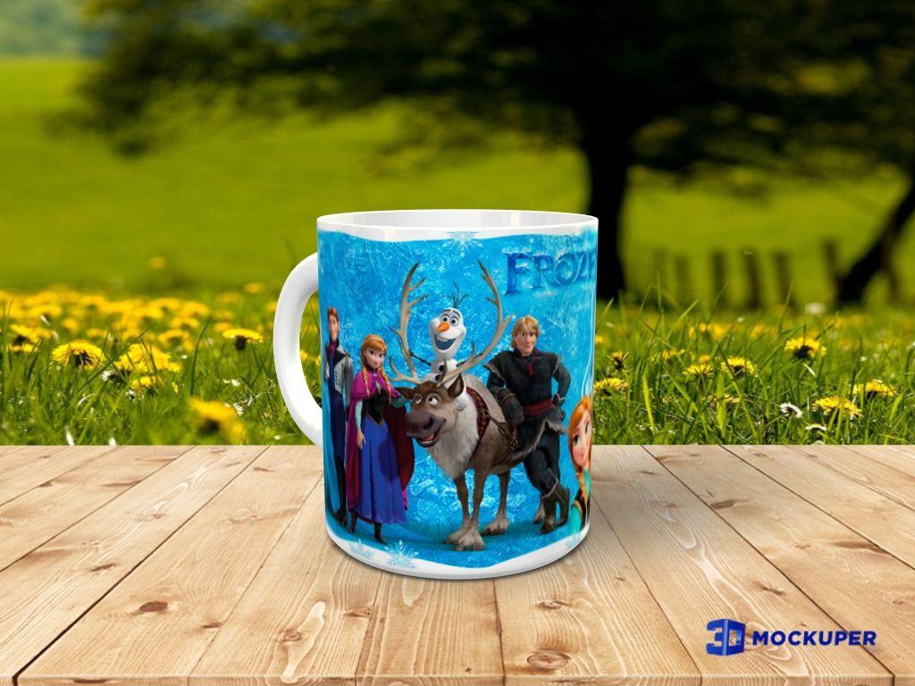 Taza Frozen personalizada con foto 1