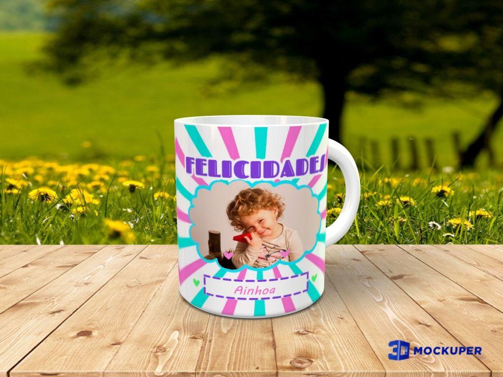 Taza personalizada con foto con Diseño unicornio 1